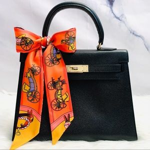 Carriage & Buckle Orange Twilly